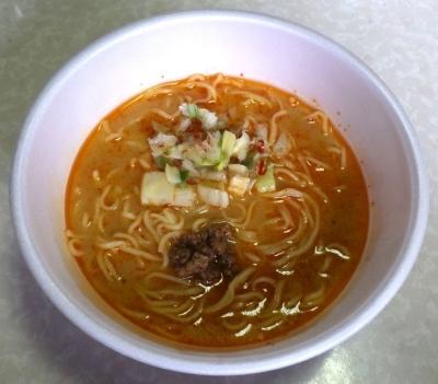 8/28発売 麺ニッポン 信州王様辛味噌ラーメン(できあがり)