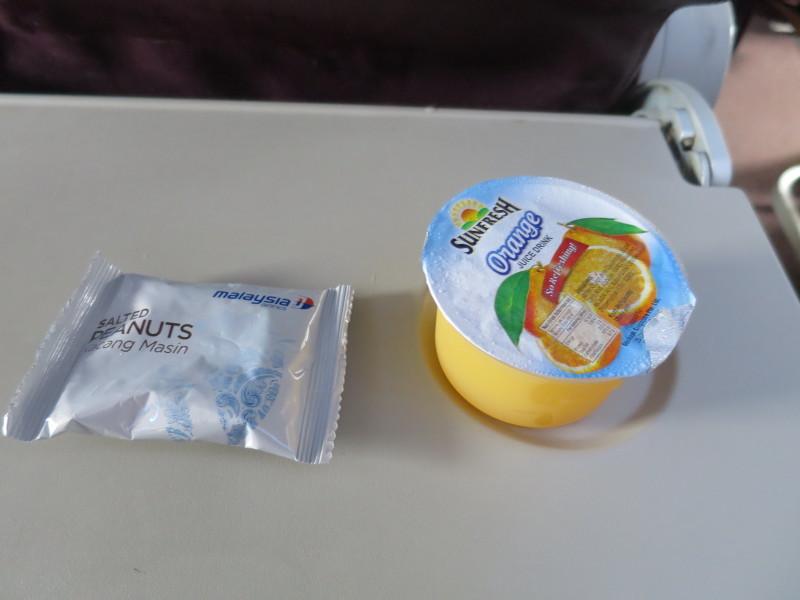 マレーシア航空 機内食