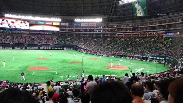8/15ソフトバンクVSオリックス野球観戦。