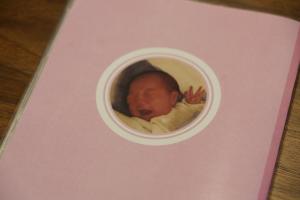 母子手帳の裏もちっちゃくのっています!カワイイ(^^)