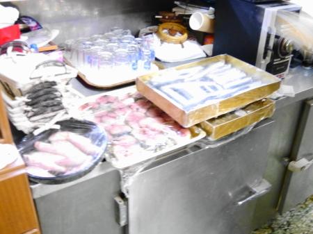 店の冷蔵庫で確認