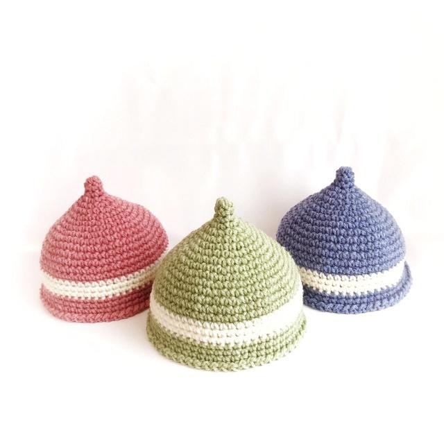 手編み雑貨 HanahanD どんぐり帽子 キッズ帽子 キッズニット帽