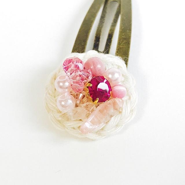 手編み雑貨 HanahanD ビジュースリーピンヘアピン