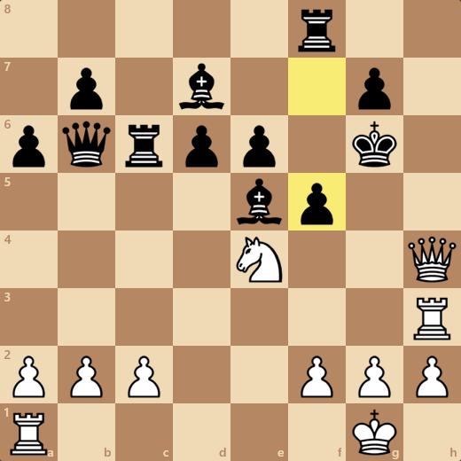 ...Kf5と逃げられていたらRf3+と指すつもりだったがそれだと最短メイトではない(正着はQh5+)