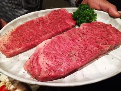 170608大阪柿屋ステーキコースの飛騨牛