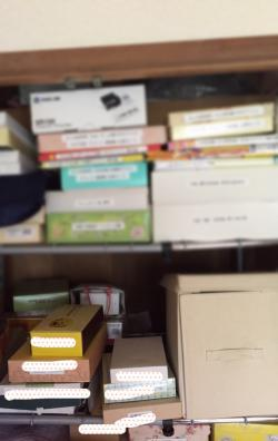 家の片づけを始めました その5. お菓子の空き箱はもう捨てます