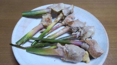 生姜の豚肉巻き