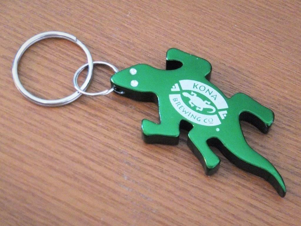 魅惑のハワイアンムードdx Kona Brewing Co Gecko Keychain Bottle