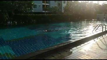 土曜日 朝のプール (1)