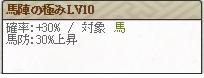馬陣の極みLv10