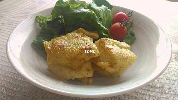 鶏胸肉のカレーマスタード炒め