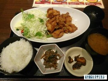 カッパ・クリエイト 北海道 油淋鶏定食01 201703