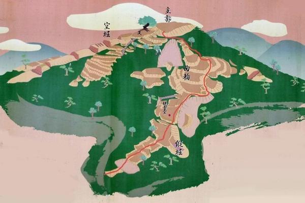 直峰城俯瞰図