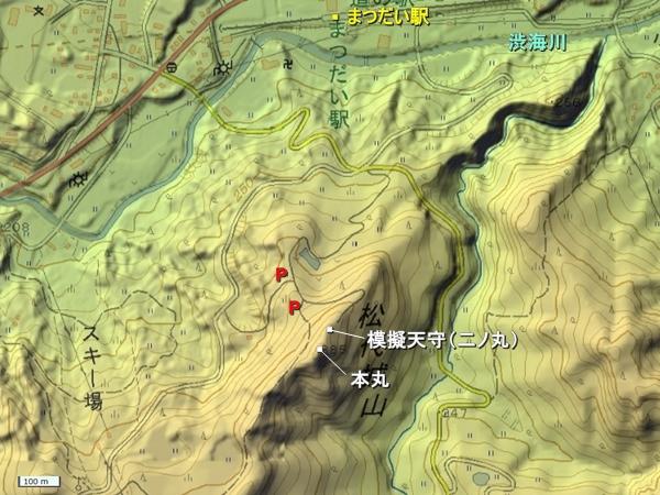 松代城地形図