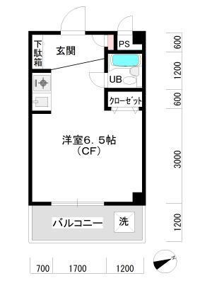 松澤ガーデンハウス 207 間取り図