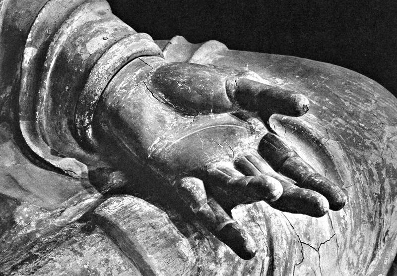 唐招提寺金堂・廬舎那仏像~左手先
