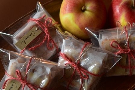 キャラメルりんごのケーキ