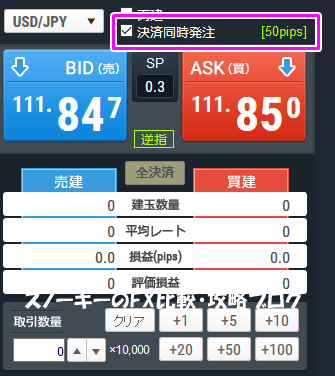 SBIFXトレード成行OCO注文