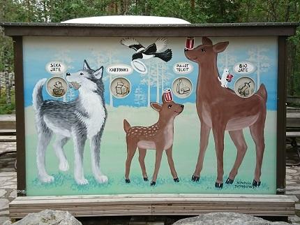 ラヌア動物園 ごみ箱