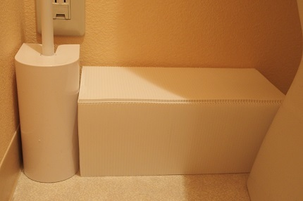 トイレ配管目隠し