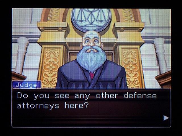 逆転裁判2 北米版 弁護士以下の男7