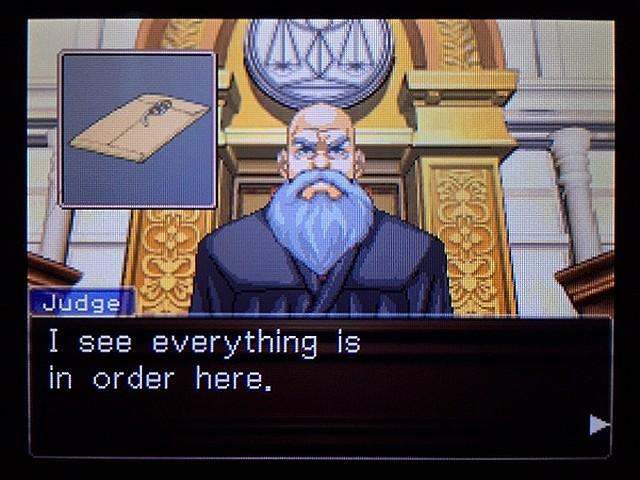逆転裁判2 北米版 ディテクティブ・ガムシュー入廷17