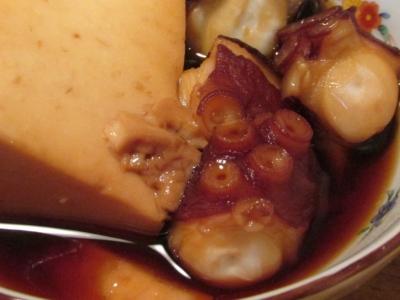 タコと豆腐オクラの甘辛煮アップ3