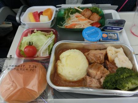LOTポーランド航空 機内食1