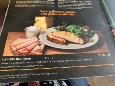 ワルシャワ空港 カフェレストラン 食事8