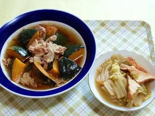 170714_4775 豚肉とカボチャの煮物・白菜と厚揚げの煮物VGA