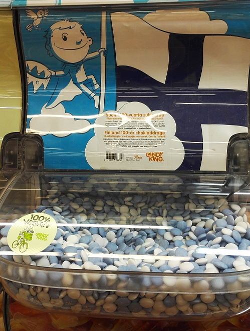 フィンランド スーパー お菓子 量り売り フィンランド独立100周年記念 SUOMI 100