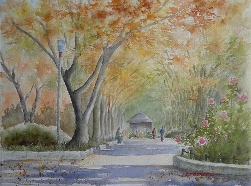 ウツボ公園ケヤキ並木