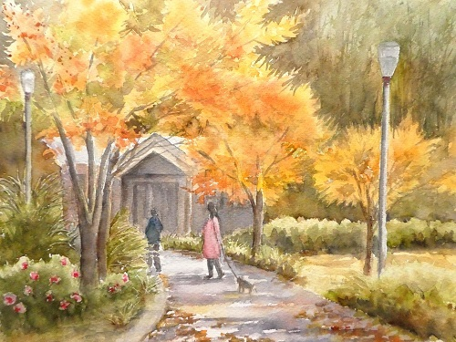 赤坂教室スケッチ ウツボ公園