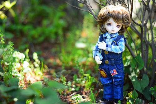 BJD CROBI-DOLL, E Line, Toriのロビン。昼下がりの公園で束の間の休日。