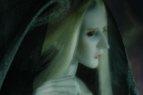Ring doll、K-Style Bの裸身に、オーガンジーの布をかぶせてみたら、神々しい程に美しく見えた