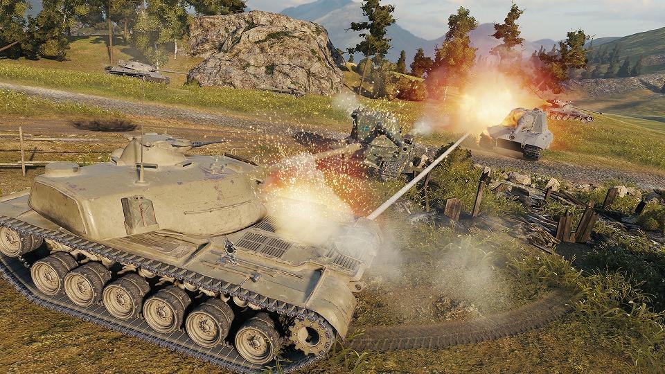 基本プレイ無料のミリタリーシューティングオンラインゲーム『World of Tanks(ワールドオブタンクス)』 30体30の新バトルモード「グランドバトル」などを追加するアップデートを実装したよ~!! 新作オンラ