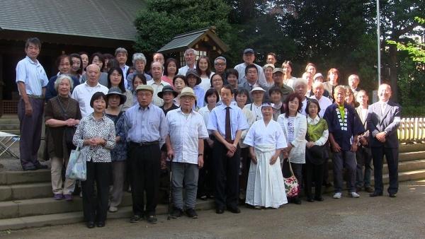 20170921 護国神社奉納揮毫