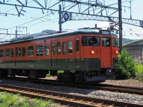 しなの鉄道 115系 電車 湘南色【軽井沢駅】