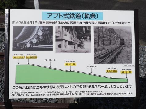 アプト式ラックレール【碓氷鉄道文化むら】
