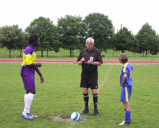 13 years old Romelu Lukaku