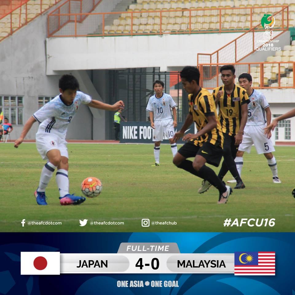 Japan 🇯🇵 4 - 0 Malaysia AFC U16 Championship 2018 Qualifiers