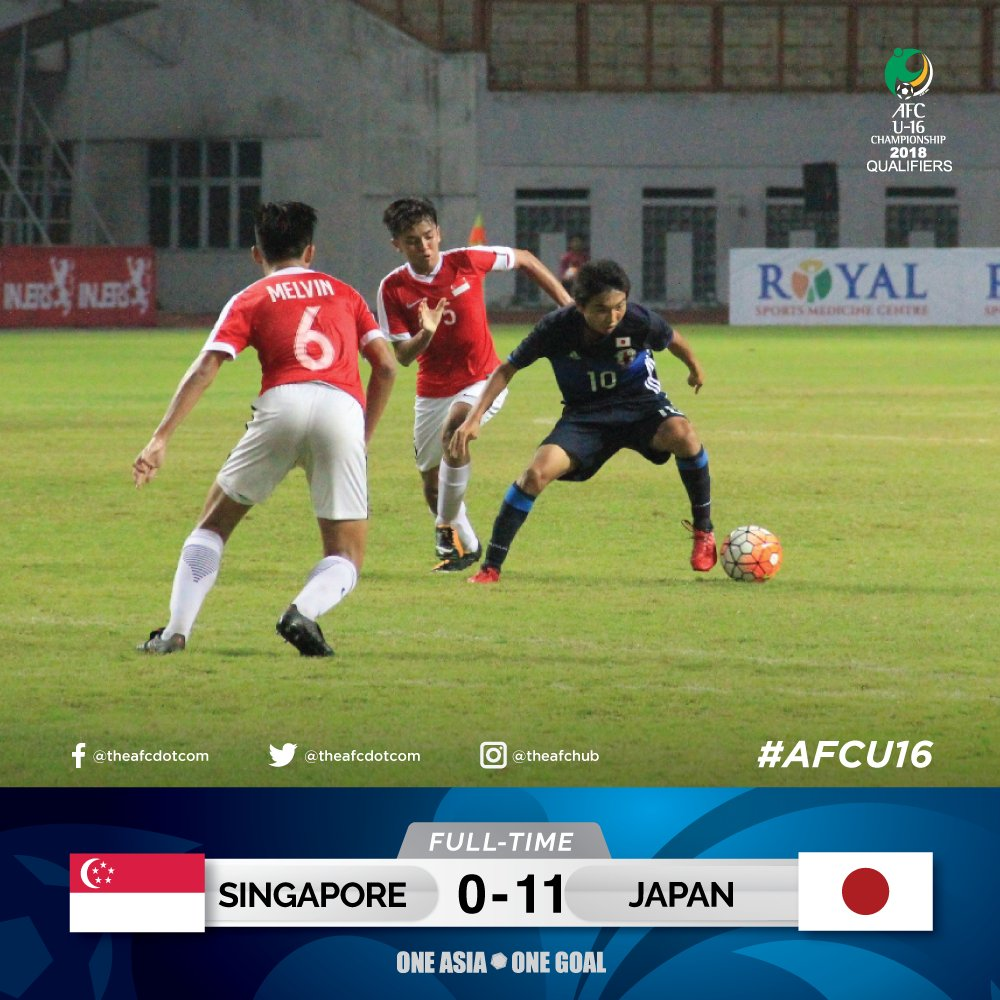 SIN 🇸🇬 0 - 11 JPN 🇯🇵 AFC U16 Championship 2018 Qualifiers