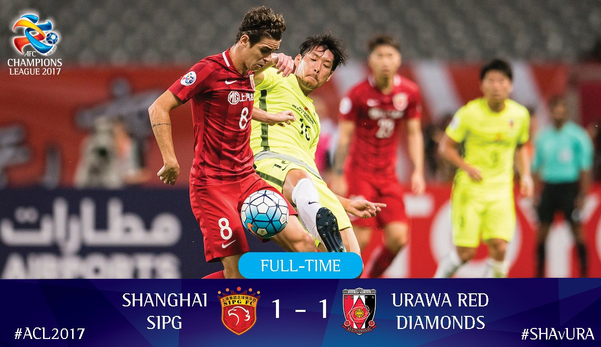 FULL-TIME It ends in a 1-1 draw but @REDSOFFICIAL have the all important away goal! #ACL2017 #SHAvURA