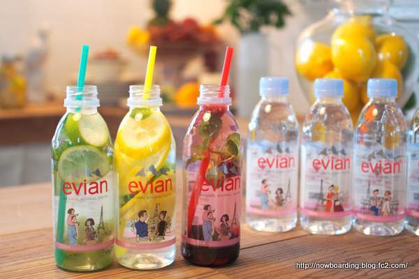 evian fruits water エビアンフルーツウォーター