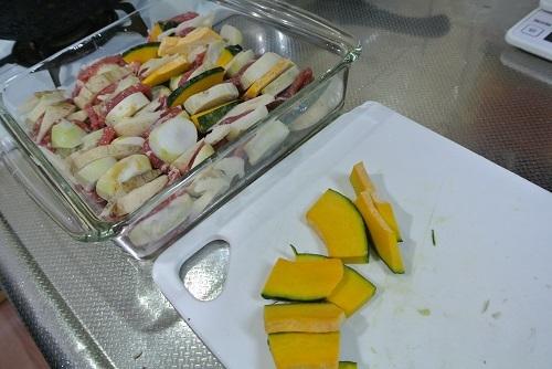 塩豚と根菜のグリル4