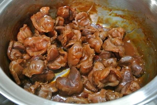 砂肝のソース煮11