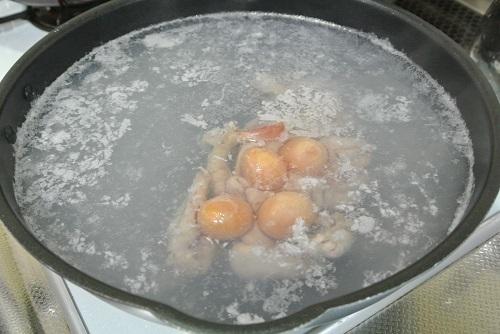 鶏モツソース煮4種
