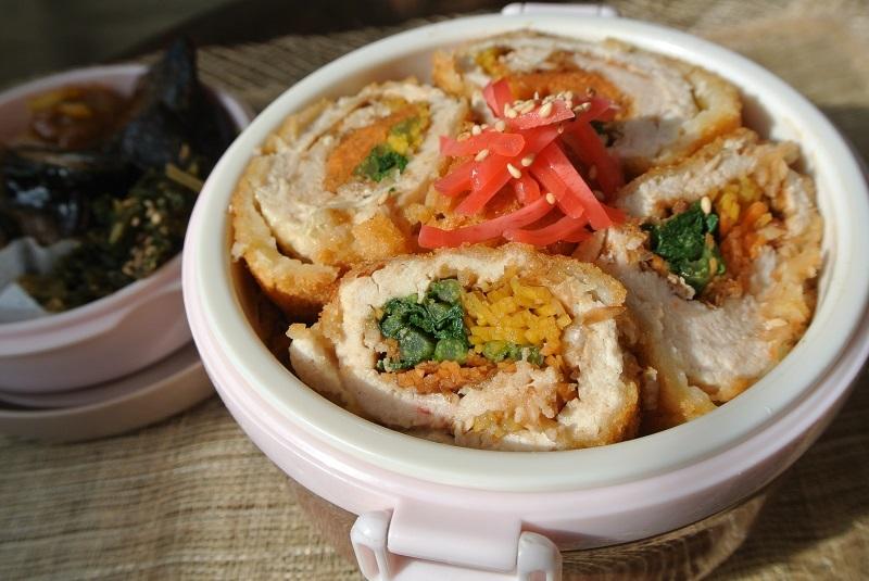 ささみと彩り野菜ロールカツ弁当1