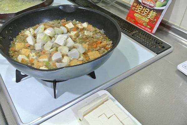四川担々麵ソースを使って3