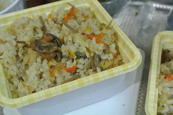 ホタテの炊込みご飯